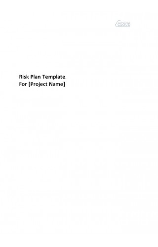 Risk Management Plan Template RI0005 (7 pages)